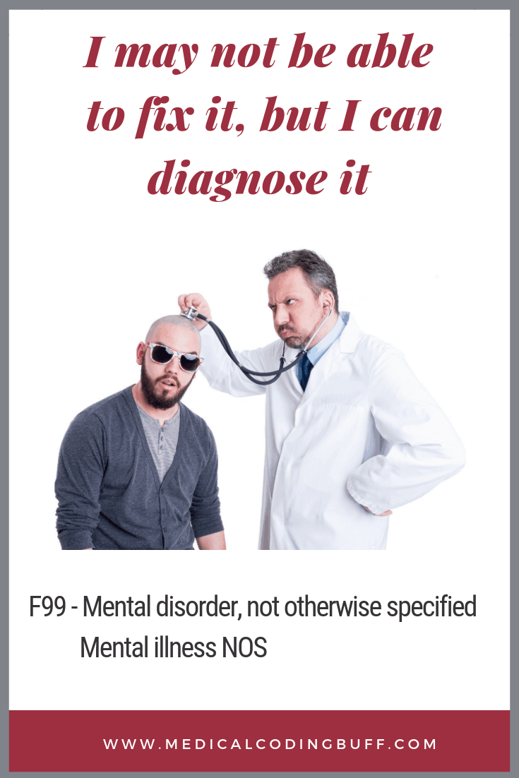 ICD-10 Diagnosis Code For Mental Disorder Not Otherwise Specified
