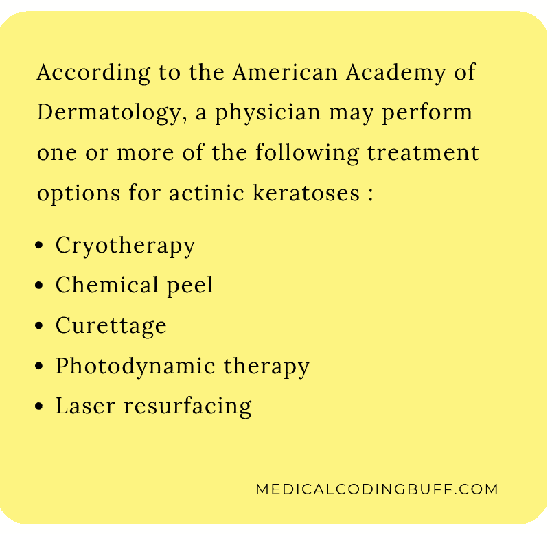 treatment options available for actinic keratoses