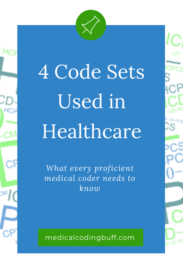 What is ICD-10-CM, ICD-10-PCS, CPT, and HCPCS? Image of acronyms for different code sets