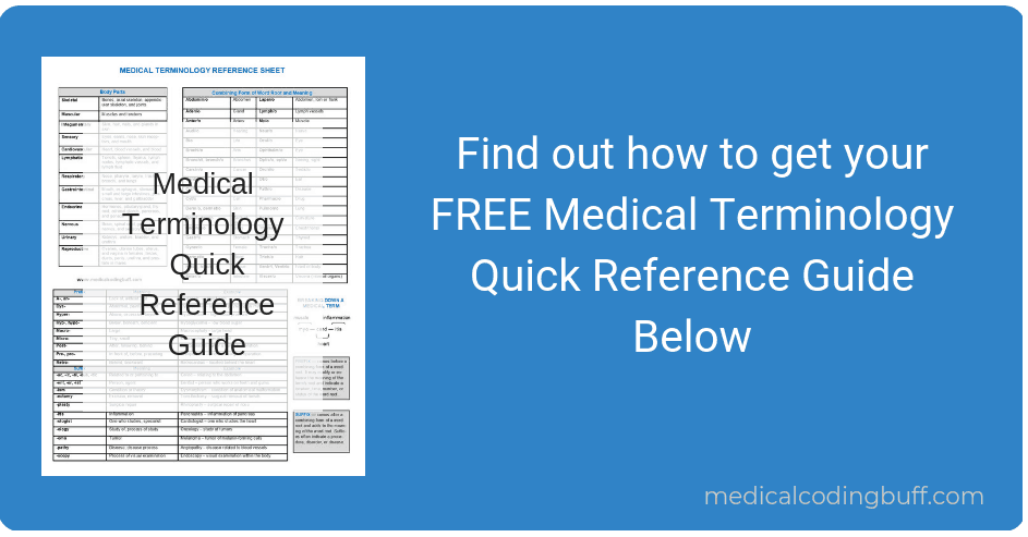 picture of medical terminology quick reference guide to sign up for