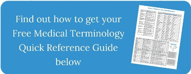 picture of medical terminology quick reference guide