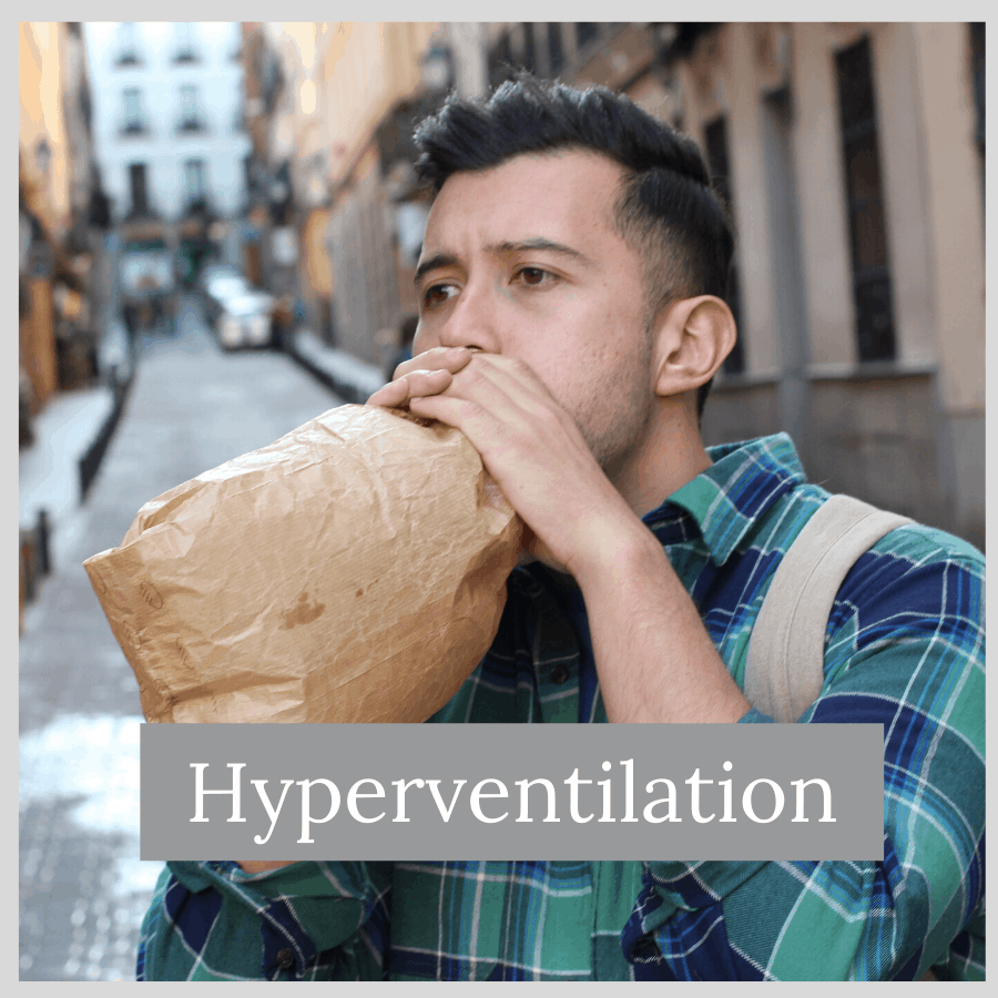 man hyperventilating and how to code for signs and symptoms in ICD-10-CM