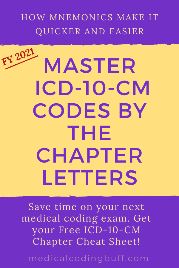How mnemonics make it easier to master icd-10-cm codes by the chapter letters