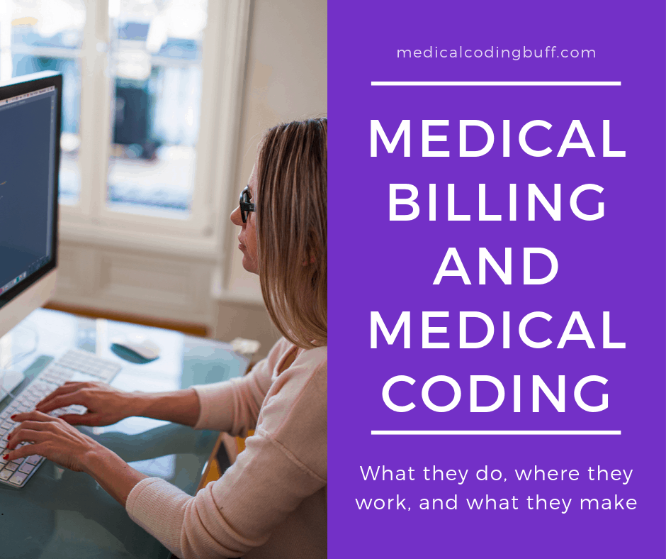 girl sitting at the computer doing medical billing or coding