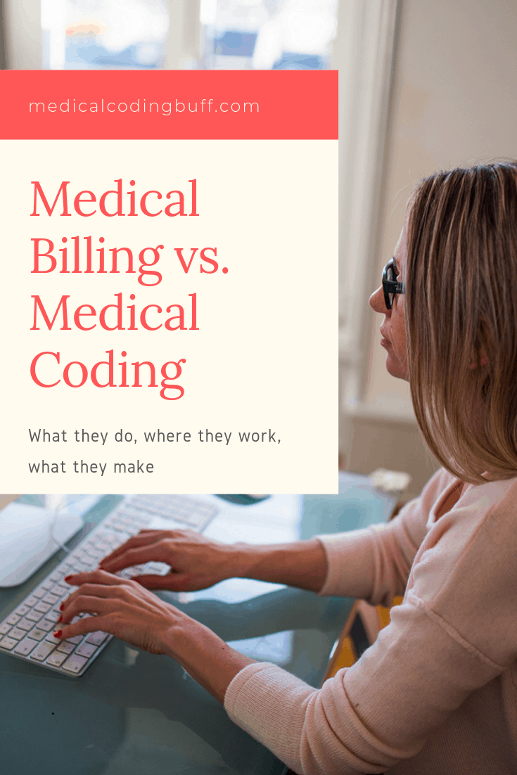 a medical biller or medical coder doing her work