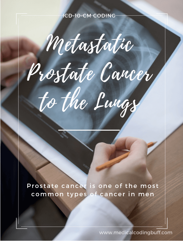 Xray showing metastatic prostate cancer to the lungs